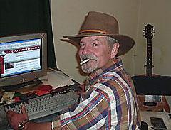 Rob 'Acidman' Smith writing Gut Rumbles